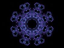 蓝色抽象形状和黑背景 免版税库存图片