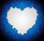 蓝色抽象技术电路背景 免版税库存照片