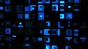 蓝色抽象数字正方形VJ圈行动背景 库存例证