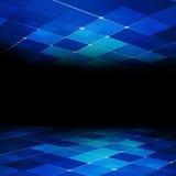 蓝色抽象概念技术背景 免版税库存照片