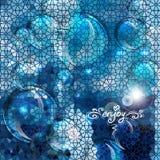 蓝色抽象气泡背景 免版税库存图片