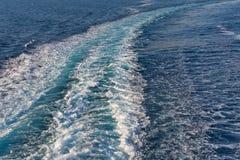 蓝色抽象波浪海洋水背景 库存照片