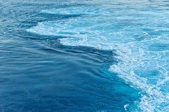 蓝色抽象波浪海洋水背景 库存图片