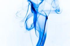 蓝色抽象烟 免版税库存图片