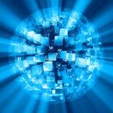 蓝色抽象球形 免版税库存照片