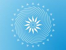 蓝色抽象的背景变苍白 免版税库存图片