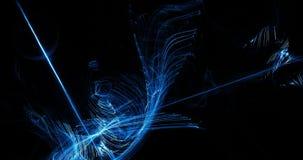 蓝色抽象线曲线微粒背景 免版税图库摄影
