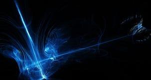 蓝色抽象线曲线微粒背景 库存图片