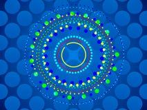 蓝色抽象背景、圈子和形式 库存照片