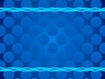 蓝色抽象背景、圈子和框架 免版税库存图片