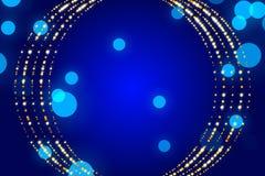 蓝色抽象背景、微粒和形式 免版税库存照片