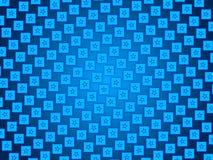 蓝色抽象背景、微粒星和正方形 免版税库存图片