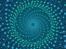 蓝色抽象背景和正方形 免版税库存照片