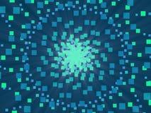 蓝色抽象背景和正方形 库存照片