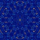 蓝色抽象背景,光 免版税库存图片