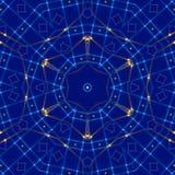 蓝色抽象背景,光 库存图片