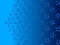 蓝色抽象背景,微粒星 免版税库存图片