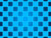 蓝色抽象背景,微粒正方形 免版税库存照片