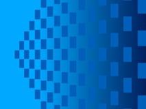 蓝色抽象背景,微粒长方形 免版税库存照片