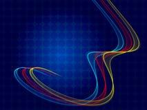 蓝色抽象背景,螺旋 免版税库存照片