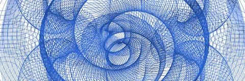 蓝色抽象隧道 库存照片