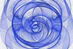 蓝色抽象隧道 库存图片
