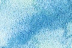 蓝色抽象水彩宏观纹理背景 库存照片