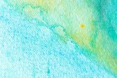 蓝色抽象水彩宏观纹理背景 皇族释放例证