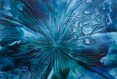 蓝色抽象 免版税库存图片