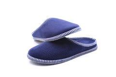 蓝色拖鞋 免版税图库摄影