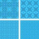 蓝色拼花地板设计集合 向量例证