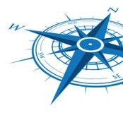 蓝色指南针背景 免版税库存图片