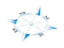 蓝色指南针 免版税库存照片