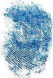 蓝色指纹 免版税库存照片