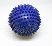 蓝色按摩尖刻的球 库存照片