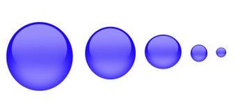 蓝色按钮水 皇族释放例证