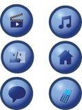 蓝色按钮 免版税图库摄影