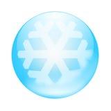蓝色按钮 免版税库存照片