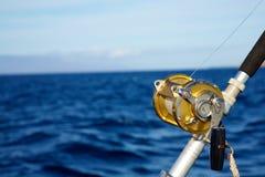 蓝色捕鱼海洋卷轴集 免版税图库摄影