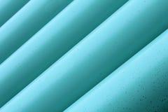 蓝色排水设备管道 图库摄影
