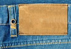 蓝色接近的牛仔裤 免版税库存图片