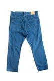 蓝色接近的牛仔裤 库存图片