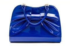 蓝色提包 免版税库存图片