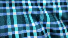 蓝色摆正织品布料物质纹理无缝的使成环的背景 抽象蓝色布料,牛仔裤,动画 循环 免版税图库摄影