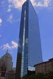蓝色摩天大楼在街市波士顿 图库摄影