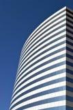 蓝色摩天大楼白色 库存图片