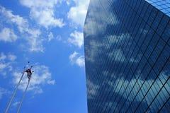 蓝色摩天大楼 库存照片