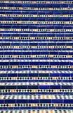 蓝色摩洛哥马赛克台阶 库存照片