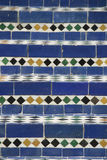 蓝色摩洛哥马赛克台阶 免版税库存照片