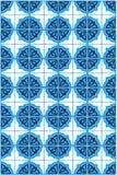蓝色摩洛哥锦砖样式 免版税库存照片